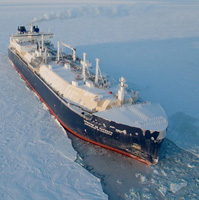 Shipping first as commercial tanker crosses Arctic sea route in winter